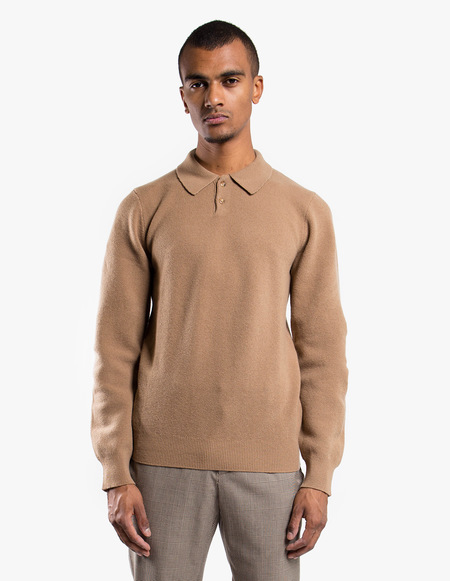 A.P.C. Pull Guitry polo - Camel