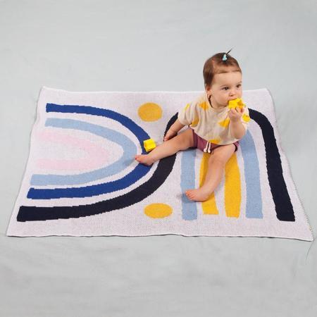 Kids Slowdown Studio Rainbow Twins Mini Blanket