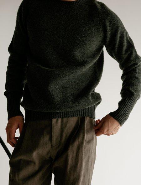 Cristaseya Classic Shetland Sweater with Maxi Cuffs - Spruce