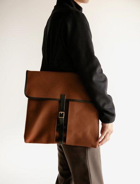 Lemaire Heavy Cotton Large Bag - Hazelnut Brown