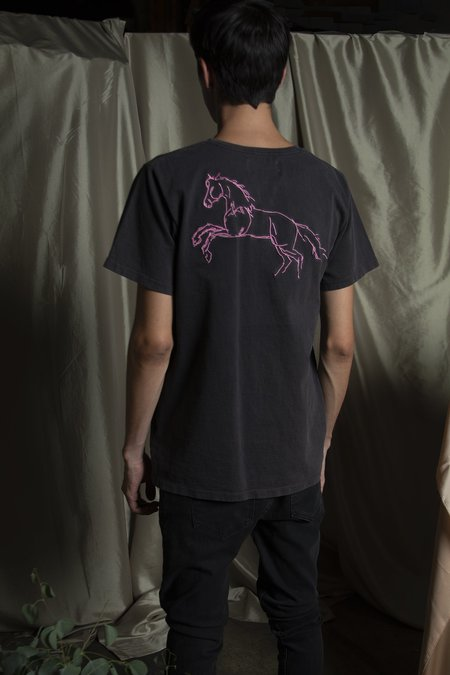 l'equip EMBROIDERED HEAVY COTTON T-SHIRT - EMBER