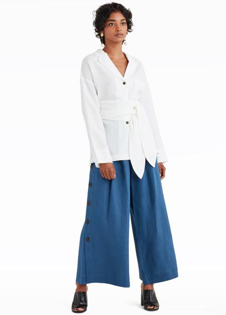 MARA HOFFMAN Eleanor Shirt - WHITE