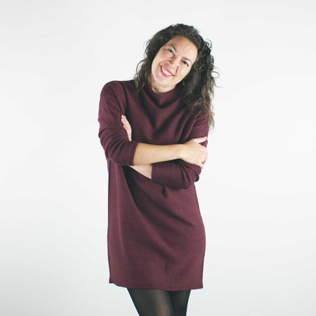 Erdaine Vera Dress - Burgundy