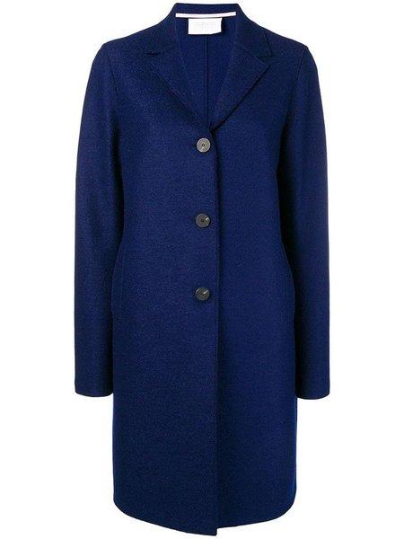 Harris Wharf Pressed Wool Overcoat - Ink