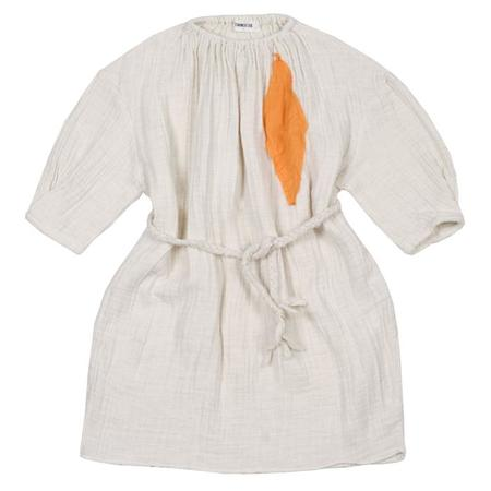 KIDS Tambere Child Dress With Belt And Patch - Cream Beige