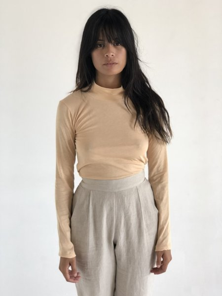 By Signe High Neck Top - Nude