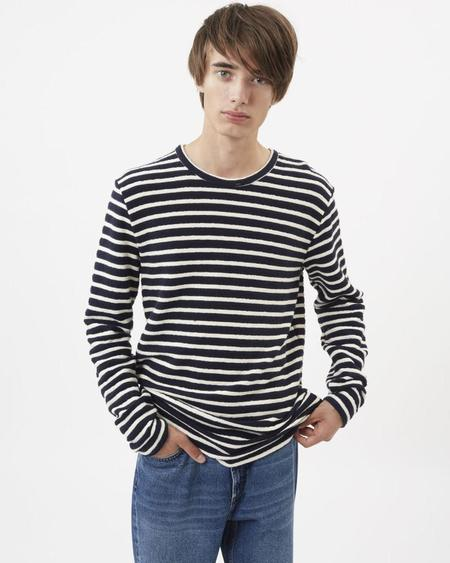 Minimum Strib Sweatshirt - Navy Stripe