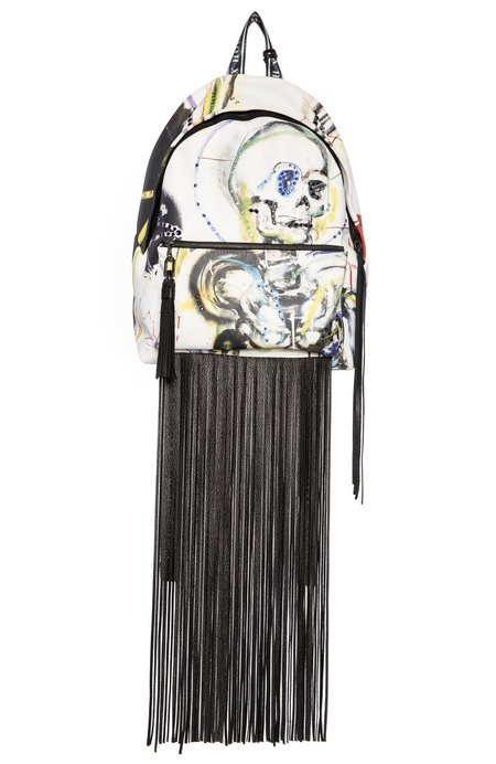 House Of Sussex Louis Carreon Eve Leather Backpack with Fringe and Swarovski Crystals