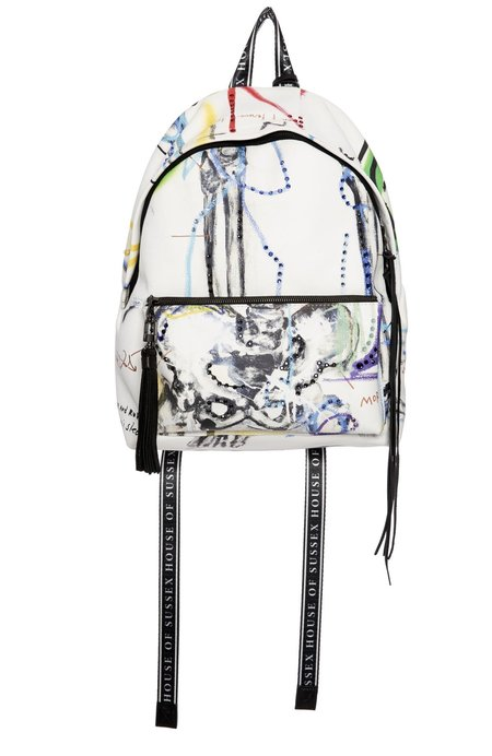 House Of Sussex Louis Carreon Serpent Backpack with Swarovski Crystals