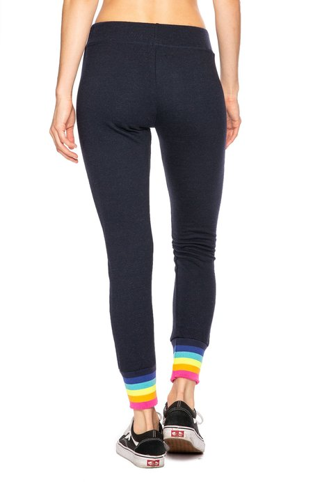 Sundry Neon Rainbow Cuff Sweatpants