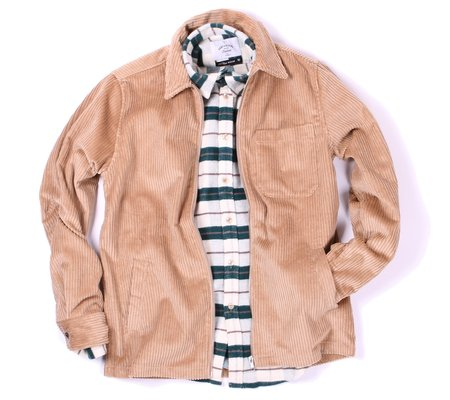 Portuguese Flannel Fecho Zip Jacket - Tan