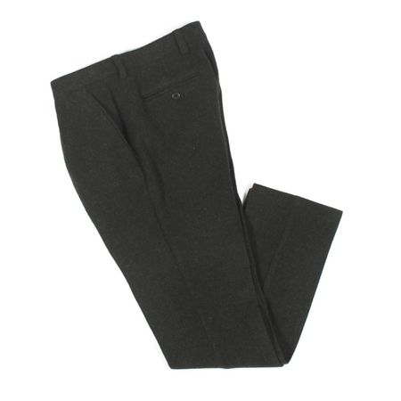 AFIELD Pleat Trouser - Green Wool