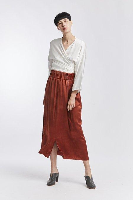 Miranda Bennett Silk Charmeuse Paper Bag Skirt - Palermo