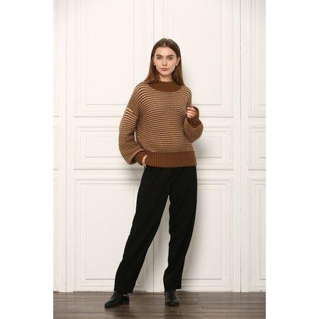 See U Soon Parfait Pullover Sweater - Beige/Camel