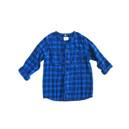 KIDS nico nico Becker Buttondown Shirt - Blue Plaid