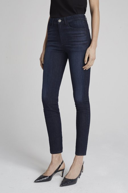 3x1 James Channel Skinny Jeans - Washed Black