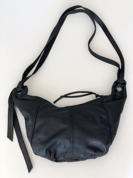 Erin Templeton Mini Hobo Recycled Leather Bag - Black