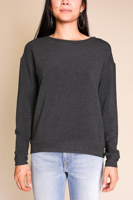 Majestic Laurie Boxy Pullover - Anthracite Chine