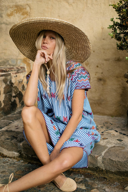 Little Tienda Camila Dress - Blue Stripe