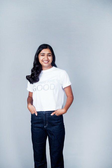 Sara Duke Things Are Good T-Shirt - White