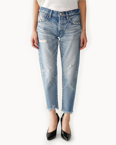 Moussy Kelley Tapered Jeans - Light Blue