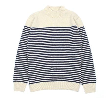 Far Afield Combin Stripe Knit - Navy/White