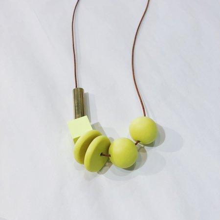 Sonia Gracia Handmade Bead Mix Necklace 2 - Neon Green