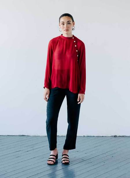 Seek Collective Deva Silk Chiffon Shirt - Vin