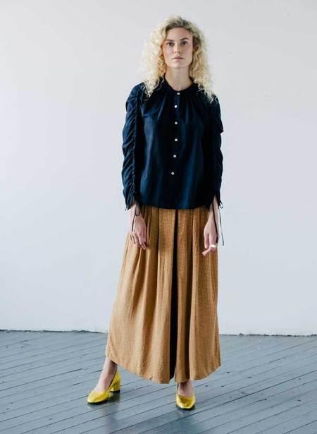 Seek Collective Etta Cotton Woven Shirt - Navy