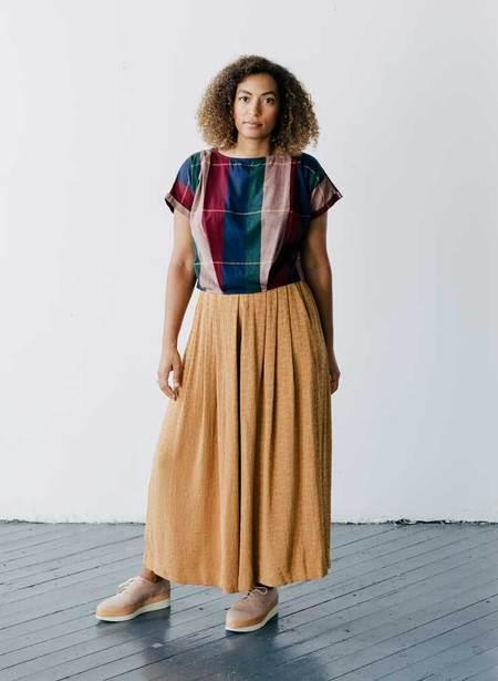 Seek Collective Maggie Cotton Woven Top - Rua Plaid