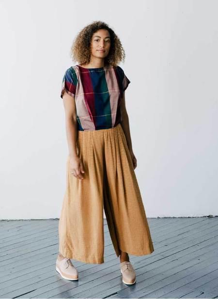 Seek Collective Savista Tile Silk Jacquard Pant - Gold