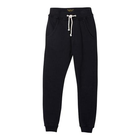 KIDS Finger In The Nose Baby And Child Sprint Fleece Jogging Pants - Black
