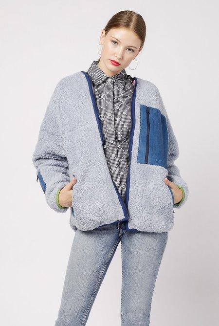 Sandy Liang 203 Fleece Jacket - Baby Blue