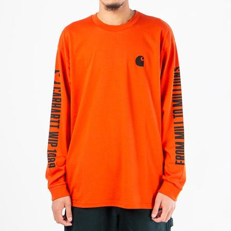 Carhartt WIP Long Sleeve 1989 WIP T-Shirt - Persimmon