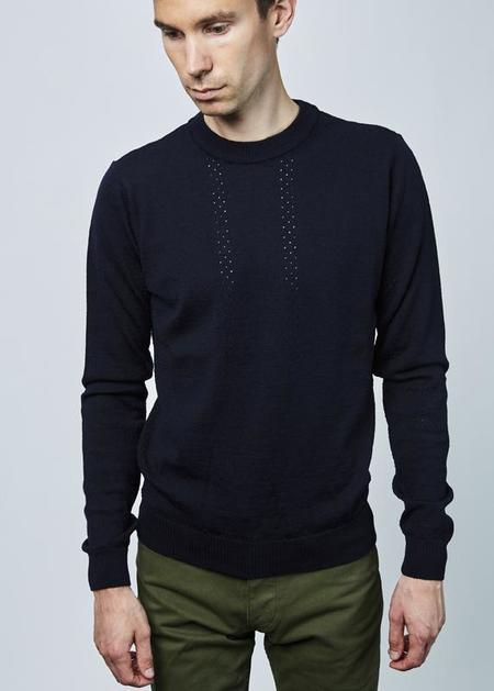 Homecore Aralia Knit Sweater - navy