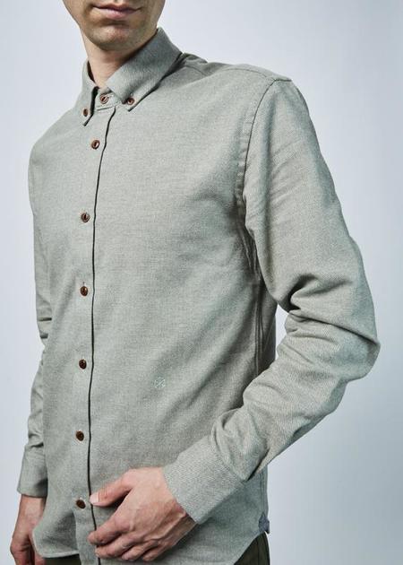 Homecore Mouline Tokyo Button Down Shirt - sage green