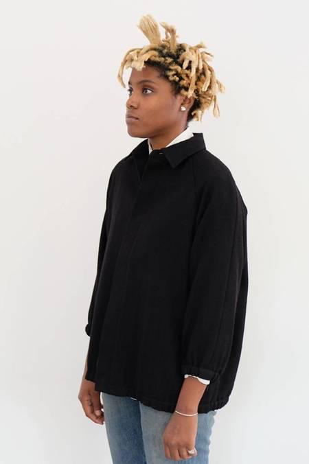 Chimala Wool Regimental Short Jacket - BLACK