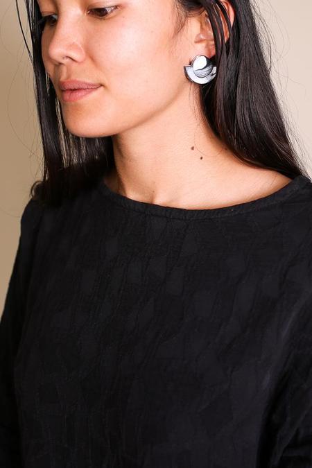 Peppertrain Kat Earrings - Black/White