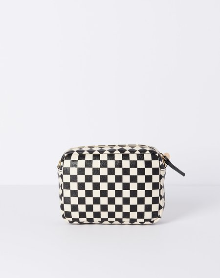 Clare V. Midi Sac - Cream/Black Checker