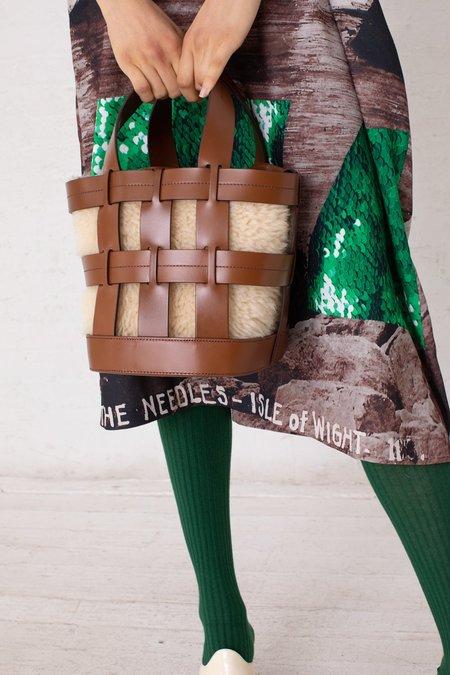 Trademark Cooper Cage Tote Bag - Saddle/Cream