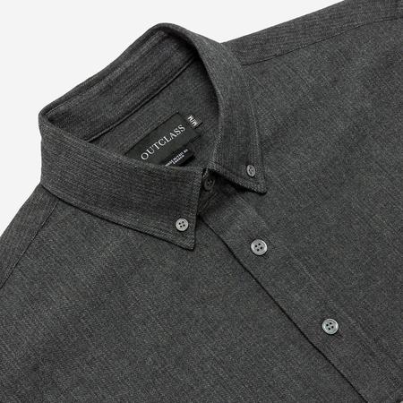 Outclass Attire Double-Sided Flannel Shirt - Charcoal/Houndstooth