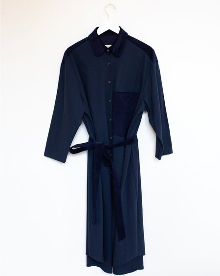 Sunja Link Shirt Dress - Indigo
