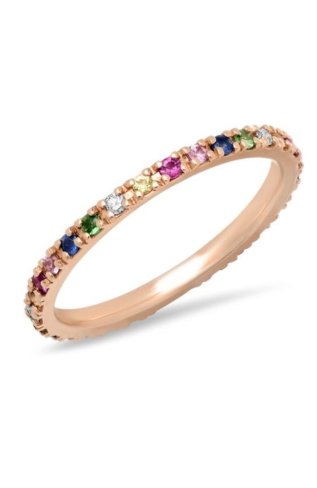 Shain Leyton Gold Rainbow Eternity Band Ring