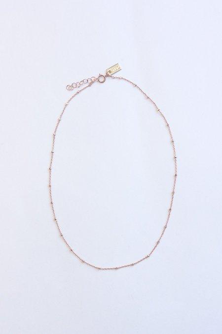 IL Design Eclipse Even Short Necklace - Rose Gold/Pink