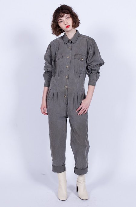 Yo Vintage! 90s Cotton Jumpsuit - Grey