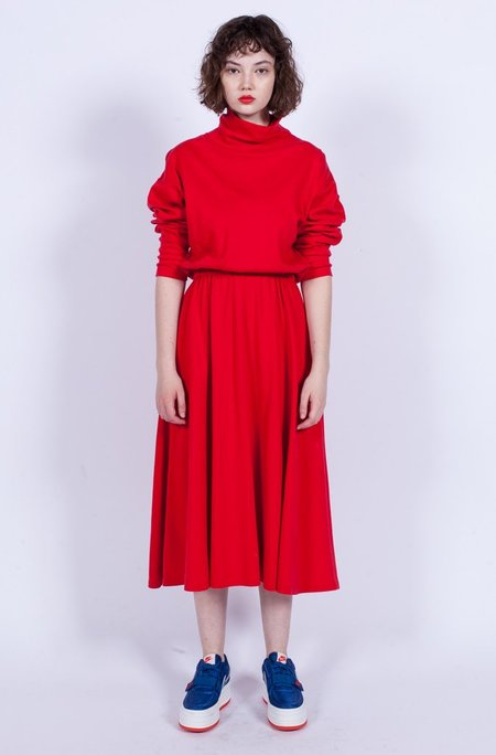 Yo Vintage! Jersey Dress - Red