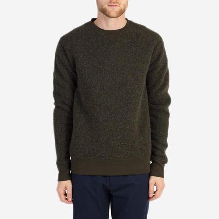 Kestin Hare Dornoch Boiled Wool Sweatshirt - Olive