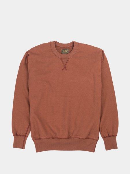 National Athletic Goods Single V Warmup Piece Dyed Sweatshirt - Oxblood