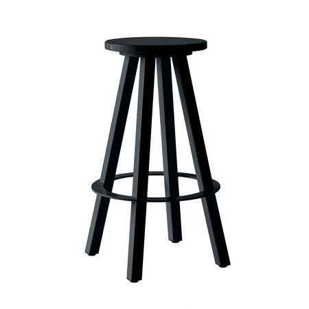 "Makr Metal Tropical 30"" Stool - Matte Black"