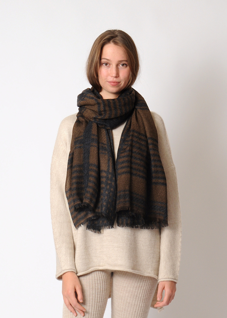 Epice Tweed Scarf - Charcoal